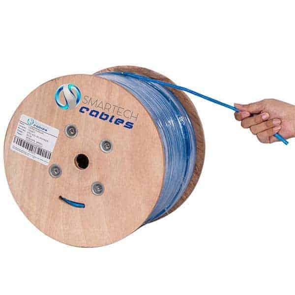 1000ft Plenum Cat6 Solid Bare Copper Blue UTP Cable 550Mhz Efficient Cables