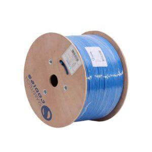cat6a plenum, 1000ft Plenum Blue Solid Cat6a Cable