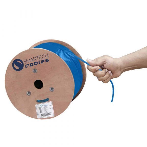 1000ft plenum blue solid cat6a cable UTP spool