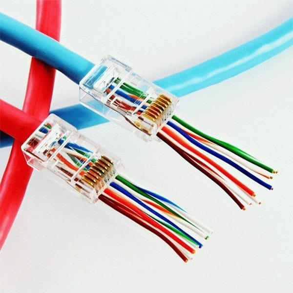 Cat5e & Cat6 Rj45EZ Crimp Connectors