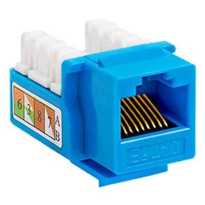 Cat5e Punch-Down Keystone Jacks Blue Color
