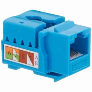 Cat6 Keystone Jacks 110 Punch Down Blue