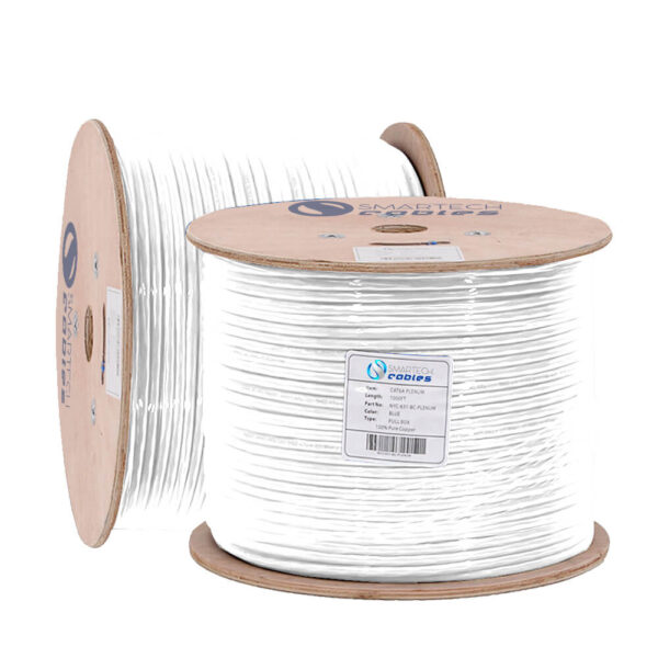 cat6a bulk cable 1000ft solid copper white