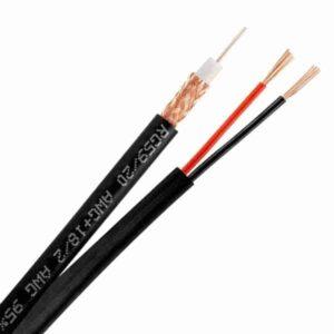 Siamese RG59 Cable 1000ft 95% Bare Copper 2DC Pull Box