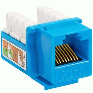 Cat6 Keystone Jacks Blue 110 Punch Down Blue