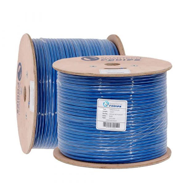 1000ft plenum blue solid cat6a cable UTP