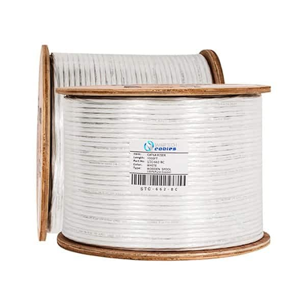 cat6a riser white, 1000ft cat6a riser, utp cat6a riser, cat6a 1000ft riser cable