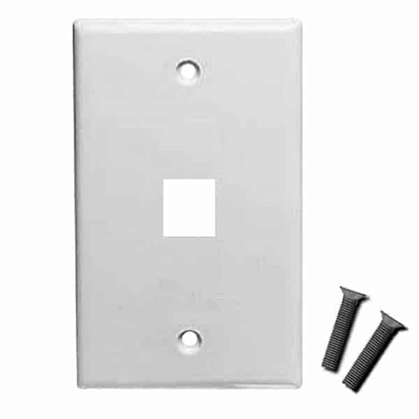Single Port Standard Face Plate for Keystone Jacks